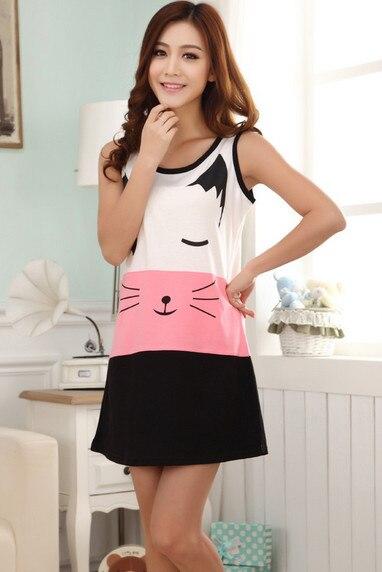 2018 sleepwear lovely princess leisurewear sleepdress women nightgown sleepshirt nightwear AW7123