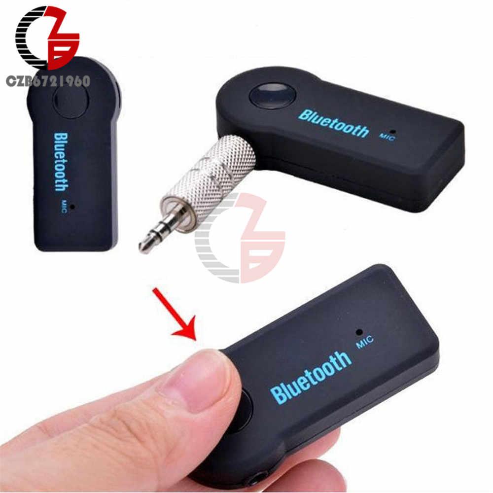 Bezprzewodowy odbiornik samochodowy Bluetooth 4.1 Adapter 3.5mm Jack nadajnik dźwięku zestaw głośnomówiący telefon AUX odbiornik muzyczny do telewizora domowego MP3