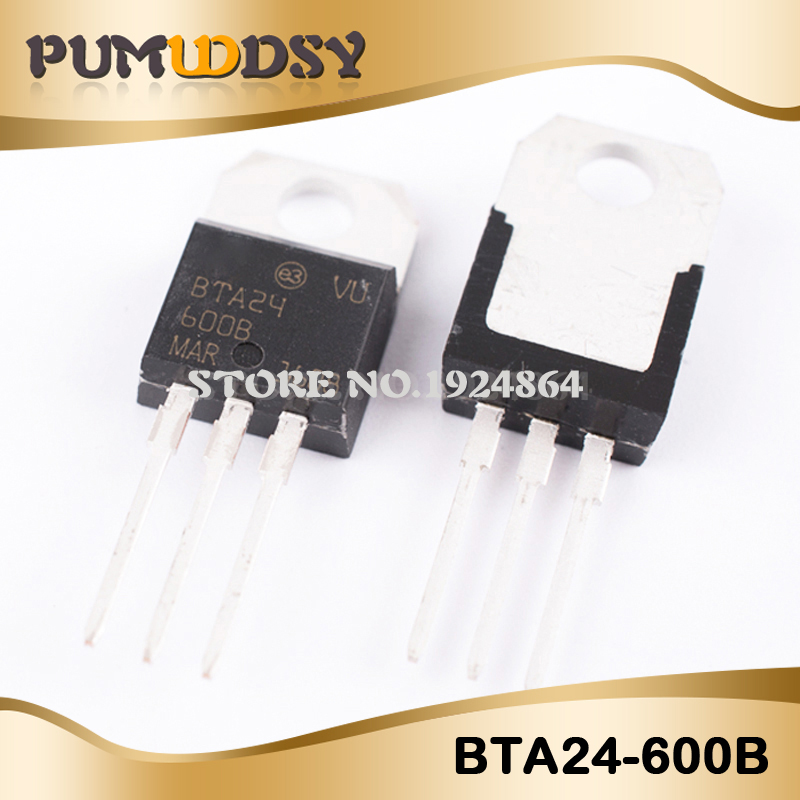 10pcs BTA24-600B BTA24-600 BTA24 Triacs <font><b>25</b></font> Amp 600 Volt TO-<font><b>220</b></font> new original IC image
