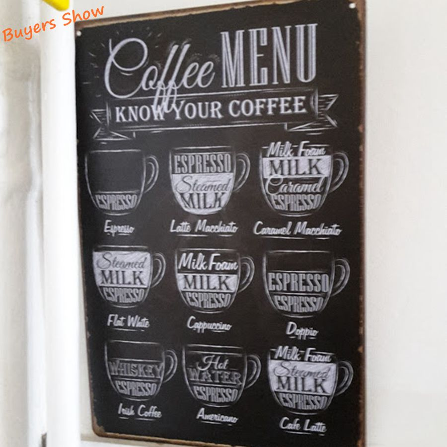 Rereo coffee metal tin sign cafe wall decor vintage metal rereo coffee metal tin sign cafe wall decor vintage metal painting coffee menu poster art plaque coffee decoration in plaques signs from home garden amipublicfo Gallery