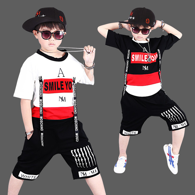 be01ca7d8 Aliexpress.com   Buy Boys Tops + Harem Black Cotton Pants 2pcs Set ...