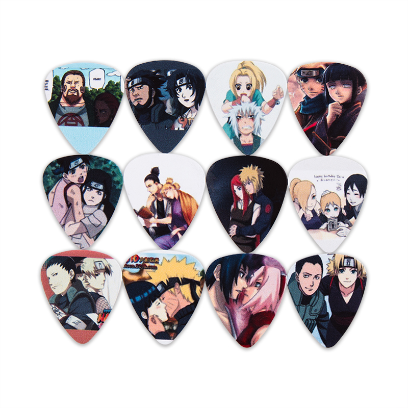 SOACH 10pcs Bass Guitar Pick Anime Plucked Instrument Accessories Paddle Guitar / Acoustic Guitar / Ukulele