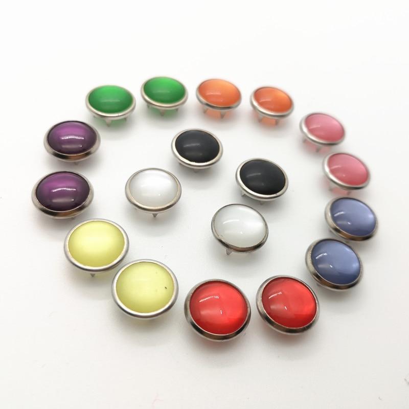 Кнопки красочная застежка жемчужные пуговицы, кнопки для скрапбукинга, Верхняя Мода Diy 11,7 мм 100 компл./лот Пуговицы      АлиЭкспресс