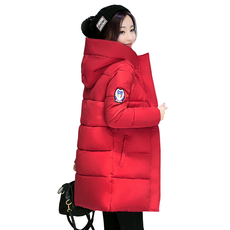 2019 New Long   Parkas   Female Women Winter Coat Thick Warm Cotton Hooded Jacket Womens Outerwear   Parkas   for Women Winter Outwear