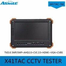 Newest X41TAC-5M 7″TFT LCD HD-TVI3.0 AHD2.0 CVI HDMI VGA CVBS Camera Video Test Tester X41TAC 5MP 1080p HD-AHD Camera Testing