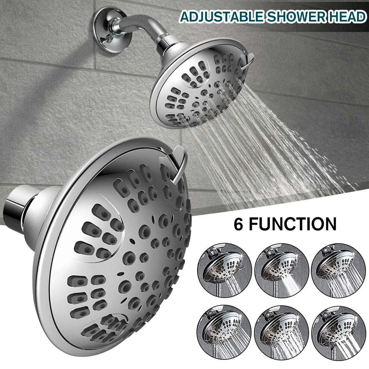 Wysokie ciśnienie końcówka prysznica ABS do montażu na ścianie Showerheads z jeden/3-tryb/6-tryb kąpieli pod prysznicem złącze obrotowe regulowany kran