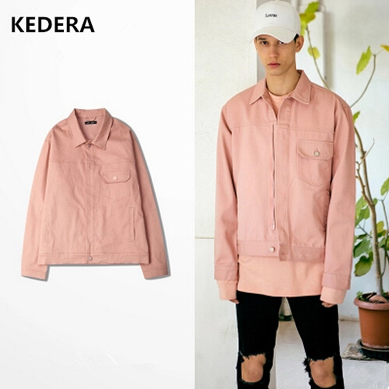 Aliexpress.com : Buy 2016 Hip Hop Men Women Denim Pink Bomber ...