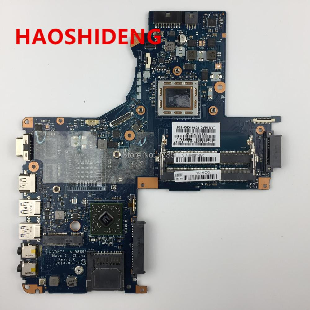 for Toshiba Satellite L40D L45D K000141380 LA-9869P series laptop motherboard .All functions 100% fully Tested ! free shipping for toshiba satellite p700 p740 p745 laptop motherboard k000123400 la 7101p all functions 100% fully tested