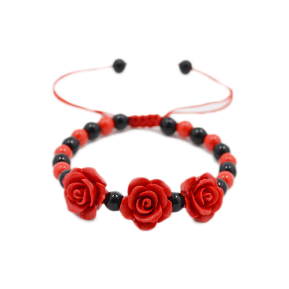 2017 new arrival flower decorate bracelets handmade beads bracelets fashion jewelry gift