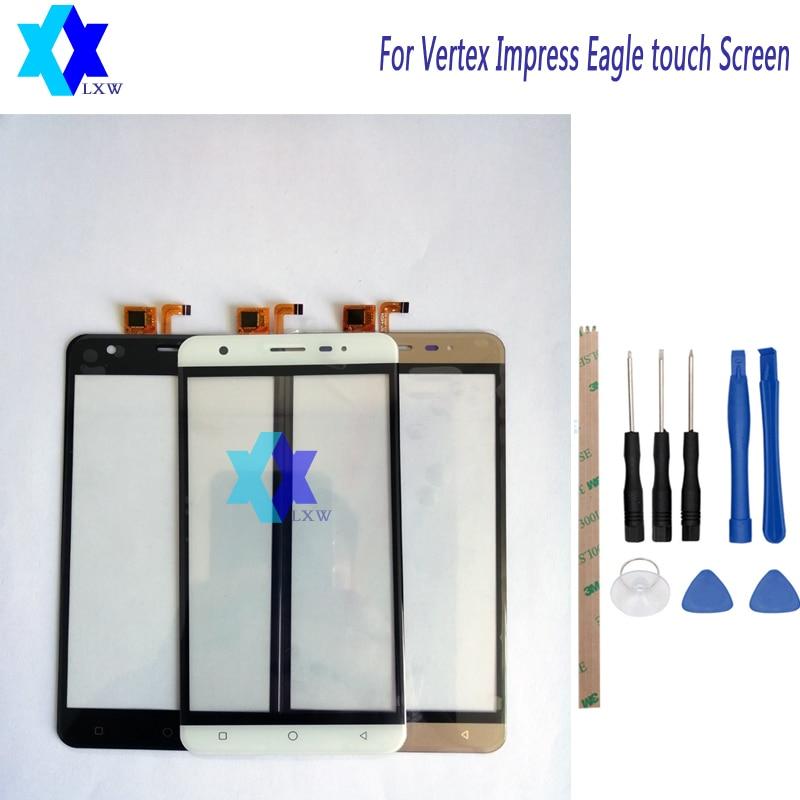 5.0 pour Vertex Impressionner Aigle écran Tactile Du Panneau Avant En Verre Digitizer Pièces De Rechange + Outil