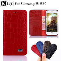 Luxury Genuine Leather Wallet Flip Cover For Coque Samsung Galaxy J5 Case J510 SM J510F Phone
