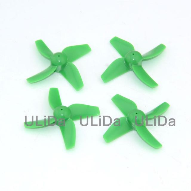 Plastic 4-Blade Propeller 31mm/0.8mm Shaft CW/CCW Set - BLADE INDUCTRIX Tiny FPV