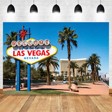NeoBack Las Vegas Birthday Party Photography Backdrops Banner decor printed Background