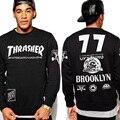 De alta calidad de Hip Hop de Los Hombres de Skate Thrasher sudadera Impresión Homme Marca Trasher Palacio Monopatín sudaderas con capucha TC379