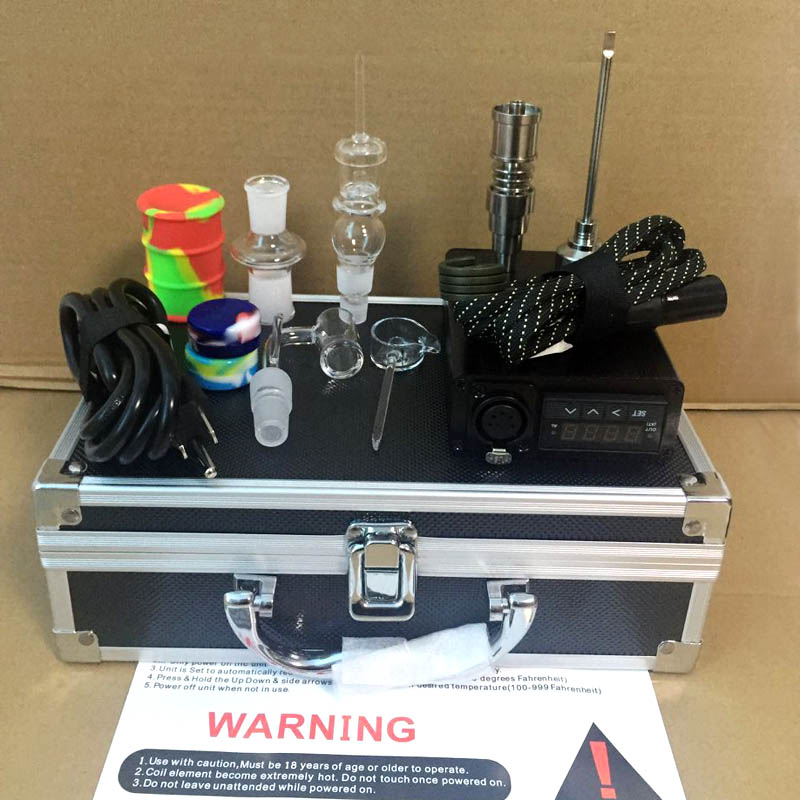 Quartz ENail 20mm Heater Coil Electric Dab Nail Box Kit Dabber Temperature Controller 14mm 18mm Male Quartz carb cap 0B-in Shisha Pipes & Accessories from Home & Garden