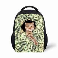 638b2fa68d56 Бесшумные дизайнерские рюкзаки для детского сада детский школьный рюкзак  сумка для денег кошки забавные портфели с