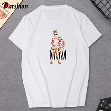 New Mom And Baby T Shirt Mothers Day Gift Mom/Daughter White Tshirt Casual Lovely Short Sleeve Women shirt Family Outfits
