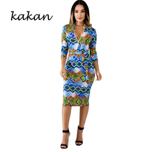 Kakan 2019 summer new womens dress snake pattern irregular print sexy club party XL S-3XL