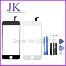White black Front Glass Lens + Touch Screen Digitizer For iPhone 6 i6 5.5 inch plus Replacement Outer Touch Panel Screen Case
