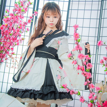 SEEDRULIA  Anime Cosplay Lolita Halloween Fancy Dress Japanese Kimono Lovely Cos Dress