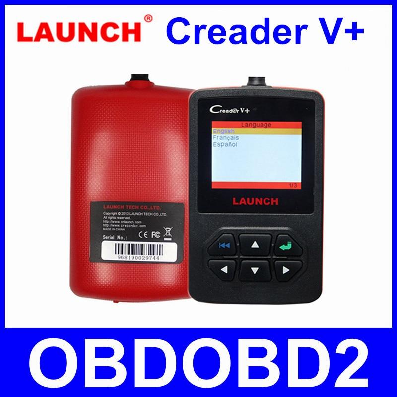 Prix pour [Launch Distributeur] LAUNCH CReader V + Plus 100% D'origine OBD2 Lecteur de Code Scanner Multi-langues Prises En Charge Livraison mise à jour En Ligne