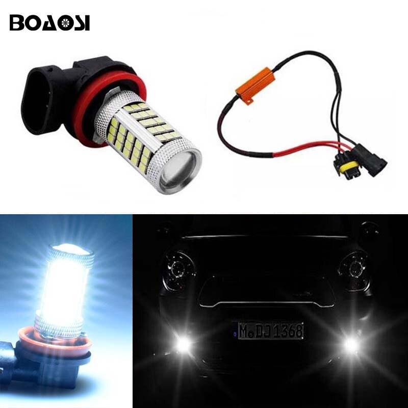 BOAOSI pro BMW Mercedes-Benz Audi A3 A4 A5 S5 A6 Q5 Q7 TT Jasná bezporuchová H8 H11 LED projektor Mlhovka Žárovka Bez chyby 2ks