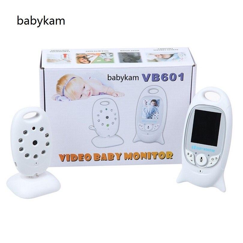 Babykam bateria eletronica moniteur bébé VB601 Menu portugais 2.0 pouces IR vision nocturne moniteur de température berceuses 2 voies parler