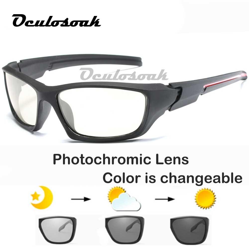 2019 Dos Homens Ao Ar Livre de Condução Óculos De Sol De Pesca Lente HD óculos de Sol Óculos Polarizados Óculos de Sol óculos de Sol Fotocromáticas Transição