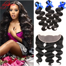 Ula Hair Brazillian Body Wave Lace Frontal With Bundles 3 Bundles Brazilian Body Wave With Closure West Kiss Hair With Frontal