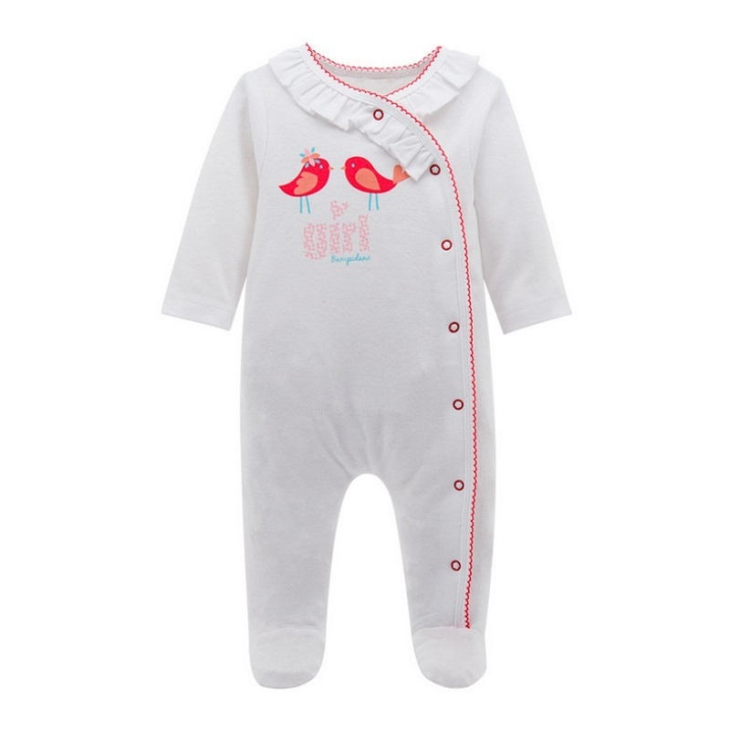 Newborn Infant Baby Rompers Spring Autumn Baby Clothing Long Sleeve Baby Body Suit Kids Boys Girls Rompers Baby Clothes KF070 емкость для сыпучих продуктов с мерным стаканом nadoba dusana