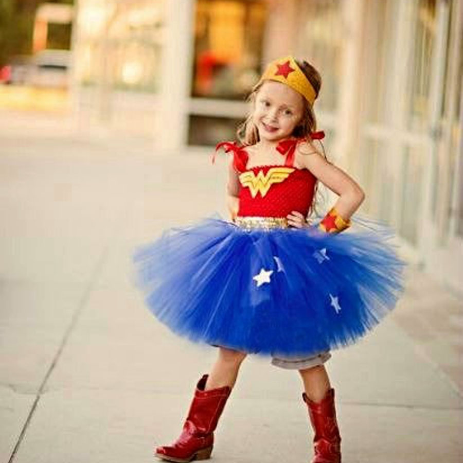 Batman Kids Girls Tutu Dress Superhero Halloween Christmas -1480