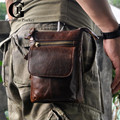 Cowhide!Real Leather Men Messenger Bag For IPhone/Cigarettes/Wallet Leather Waist Pack Casual Travel Shoulder Small Bags Man
