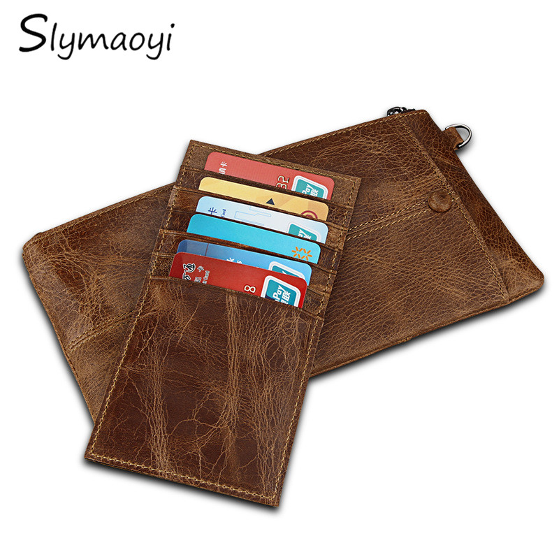 Slymaoyi HOT Genuine Crazy Horse Cowhide Leather Men Wallet Long Coin Purse Vintage Card Holder Multifunction Clutch Wrist Bag 2017 new cowhide genuine leather men wallets fashion purse with card holder hight quality vintage short wallet clutch wrist bag