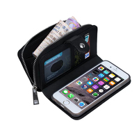 Coque Textile Pattern Split Wallet Holster Cases For IPhone 6 Etui Luxury Money Credit Cards Cell