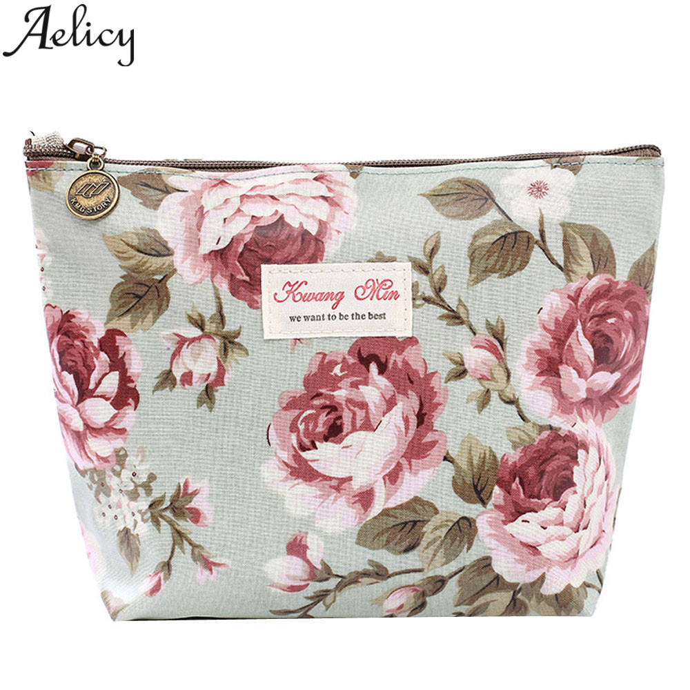 Aelicy 2018 New Wallet Women Vintage Retro Womens Purses and Ladies Handbags Floral Printed Small Zipper Coin Purse Carteira