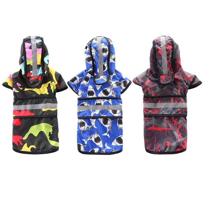 Dog Raincoat Puppy Rain Coat with Hood Reflective Waterproof Dog Clothes Soft Breathable Pet Cat Small Dog Rainwear Clothing