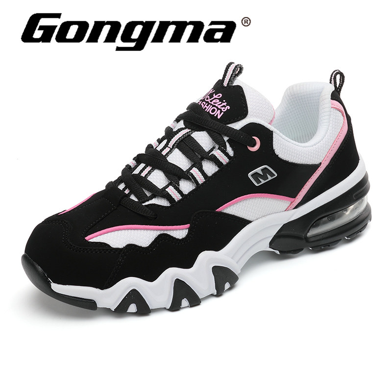 Gongma Women Sneakers Breathable Cushioning Running Shoes Summer Trainers  Woman Sport Shoes Leather Vamp Outdoor Jogging Shoe 3e12181cab3e