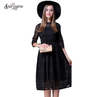 2017 Summer New Large Fat Mm Long Lace Dress Loose Loose Two Pieces Of Dress 114022