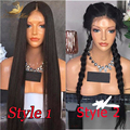 Full Lace Wigs Glueless Full Lace Human Hair Wigs For Black Women 8A Indian Virgin Hair Silk Straight Lace Front Wig