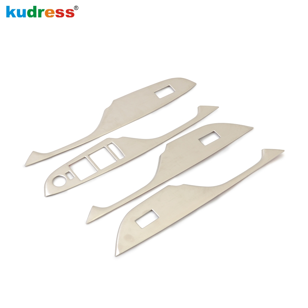 Stainless Steel Window Lift Button Decor Trim For Cadillac SRX XTS ATS-L ATSL