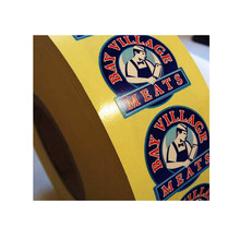 Customized Custom printed fancy adhesive round stickers, roll adhesive PET label