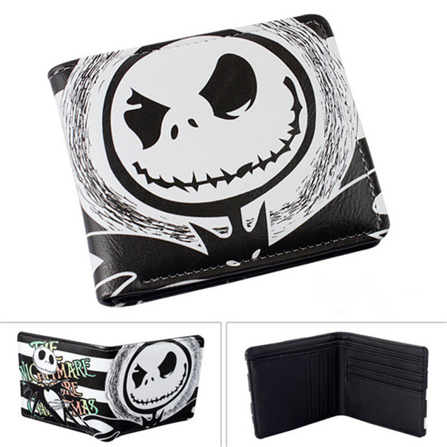 Fashion Short Wallet The Nightmary Before Christmas SKULL JACK/Doctor Who/Black Butler/Kingdom Heart Cool Cartoon student purse Girl's Shoes