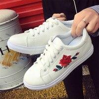Цветочная вышивка тенденция Лоферы Женские Кроссовки Женская обувь на платформе Осенняя повседневная женская обувь Женская обувь