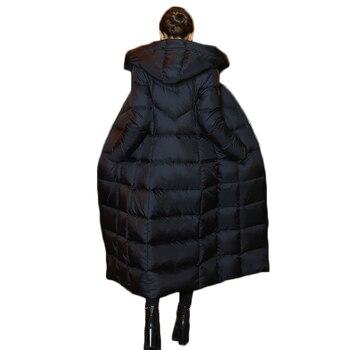 7dfa0a90a609d Kış Yeni Uzun Aşağı Ceket 2018 Kadın Ince Kore Tarzı Moda Kalınlaşmak sıcak  uzun kaban kadın kapüşonlu parka Kadın Ceket ZS372