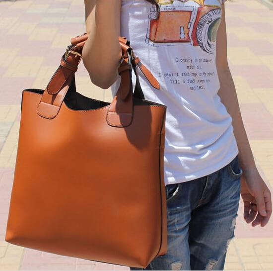 ab4e13d6369d 2015 New big size 9 colors Leather Handbags Fashion Ladies Shoulder  Messenger Bags Women Bag Hot sale