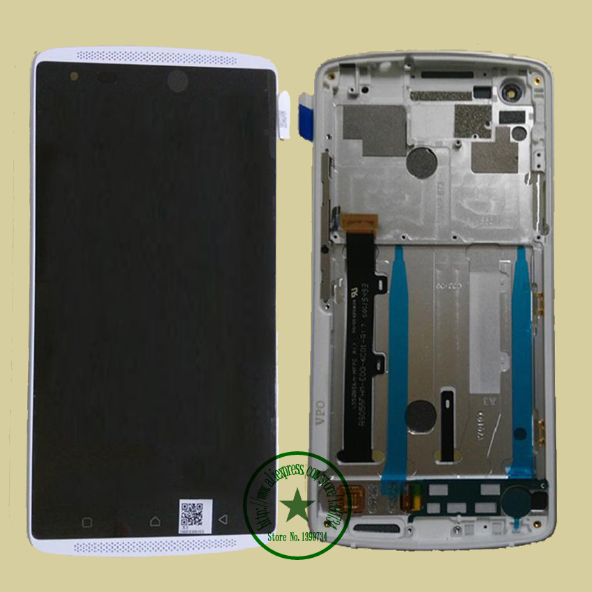 White NEW LCD Display+Touch Screen Digitizer Assembly with Frame For Lenovo Vibe / Lemon X X3 X3c50 X3C70 Phone Replacement