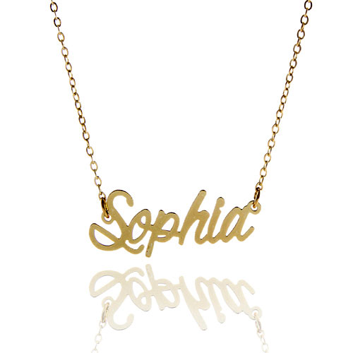 f25e17b2a76a5 US $9.99 |AOLOSHOW Gold Color Name Necklace