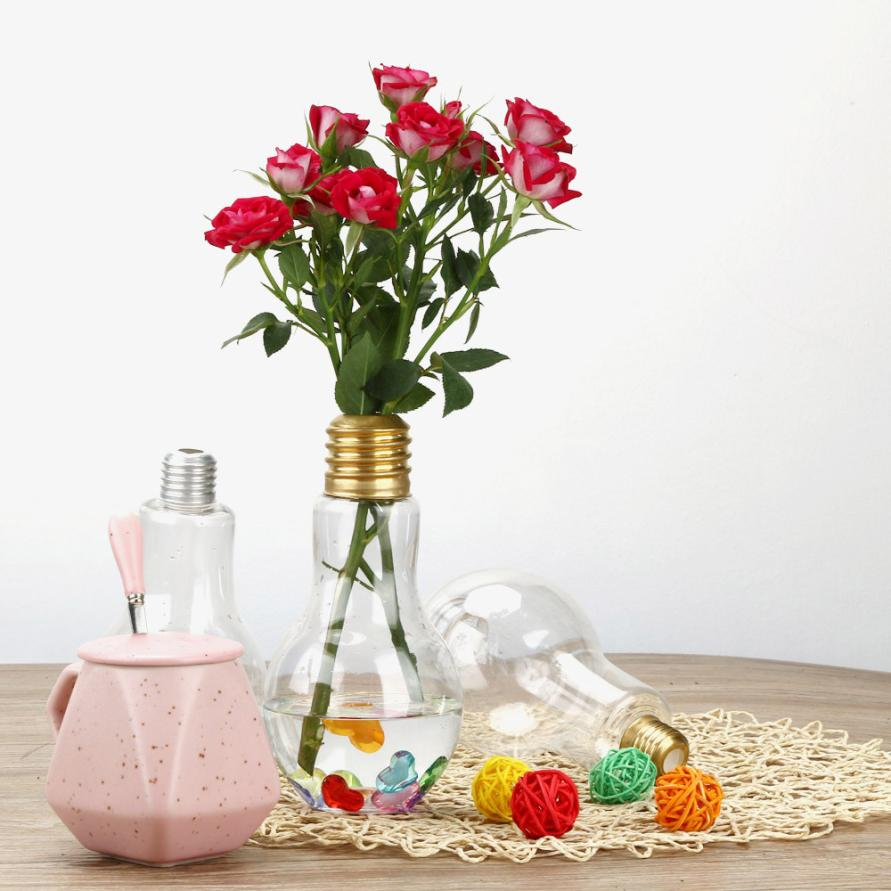 Clear light bulb shape stand plant flower vase hydroponic clear light bulb shape stand plant flower vase hydroponic container bottle in vases from home garden on aliexpress alibaba group reviewsmspy
