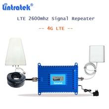 Lintratek 4g مكرر 2600 الهاتف المحمول مكبر صوت أحادي AGC الفرقة 7 شبكة الداعم gsm 4g مكبر صوت أحادي 2600 mhz هوائي S33