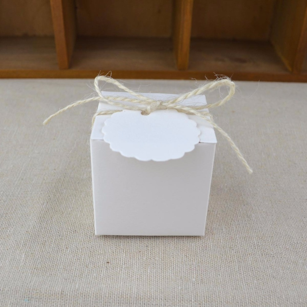 European retro kraft paper candy box Bomboniera Wedding Favors white ...